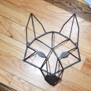 Geometric Wolf Hanging Art Piece